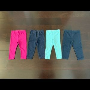 Set of 4 pants for girls, size 18 mo- 18-24 mo